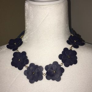 BaubleBar Zoe Collar necklace in Navy